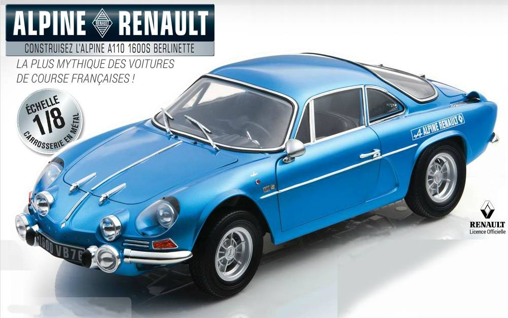 maquette voiture renault alpine a110 au 1 8 eaglemoss. Black Bedroom Furniture Sets. Home Design Ideas
