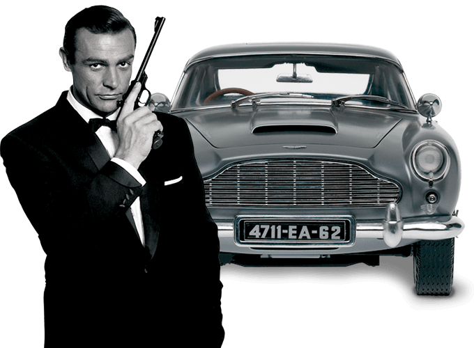 maquette voiture aston martin db james bond eaglemoss au 1 8. Black Bedroom Furniture Sets. Home Design Ideas