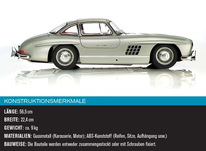 maquette monter de voiture mercedes 300sl de 1955 au 1 8 par eaglemoss. Black Bedroom Furniture Sets. Home Design Ideas