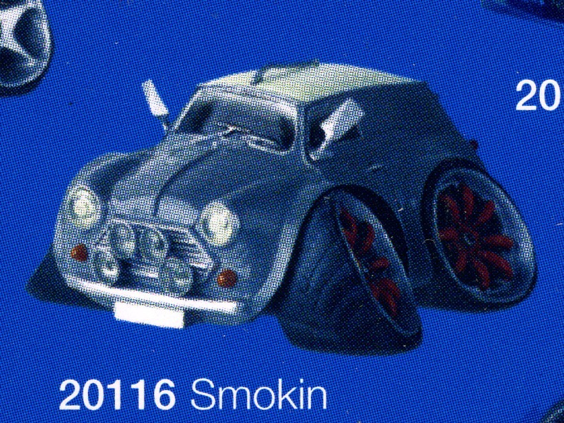 figurine street machines smokin - mini countryman