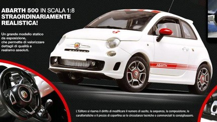 maquette voiture fiat 500 abarth au 1 8. Black Bedroom Furniture Sets. Home Design Ideas