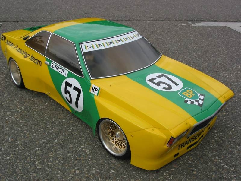 carrosserie lexan  1:5 opel commodore GS/E déco BP TRICOT
