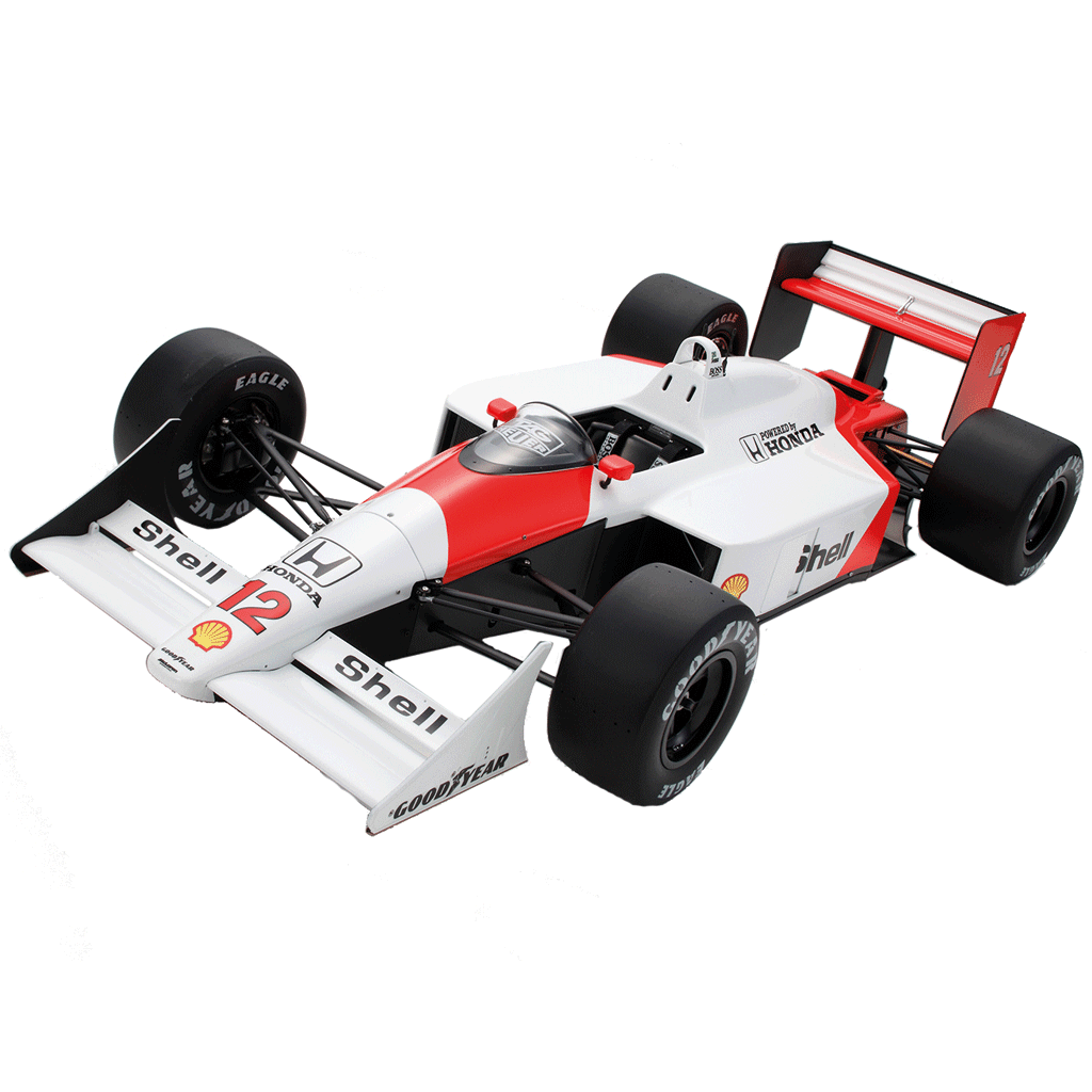 maquette voiture mclaren mp4 4 f1 senna au 1 8. Black Bedroom Furniture Sets. Home Design Ideas