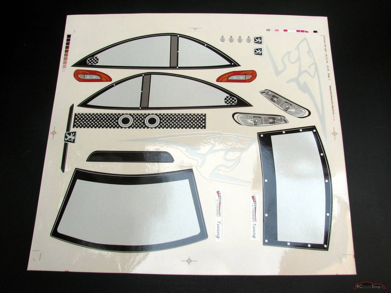 Planche peugeot sport 406 coupe tunning 1:10 large