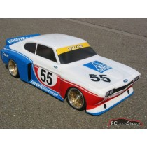 carrosserie Lexan au 1:5 d'une Ford Capri 2600 RS version ailes carrée DRM