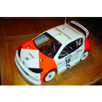 carrosserie 206 Rallye Game 1:8 lexan