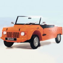 maquette voiture à monter citroen mehari orange au 1:8 par altaya (test)