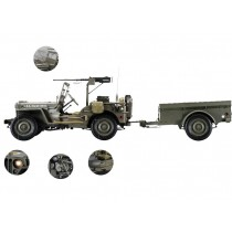 Maquette voiture à monter au 1:8 d'une Jeep Willys MB de 1941 par Hachette Collection