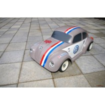 carrosserie 1/10 1/8 VW cox beetle 1303 en 300mm empattement et 230mm large