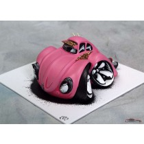 "figurine voiture VW cox beetle rose carricature Speed Freaks ""Bubblegum"" par Terry Ross & Country artist"