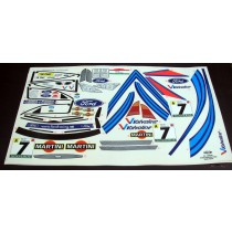 Planche ford Focus N7 Portugal Martini au 1:10