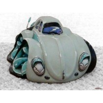 "figurine voiture VW cox beetlebleu ciel carricature Speed Freaks ""Oval"" par Terry Ross & Country artist ref CA06003"