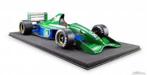 maquette voiture F1 Jordan 191 Michael Schumacher Belgian GP 1991 Formule 1 debut Real Art Replicas 1:8