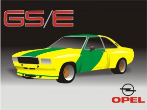 carrosserie lexan  1:5 opel commodore GS/E youngtimer R TRICOT