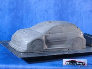 carrosserie peugeot 206 lexan 1:10 en 195mm de large