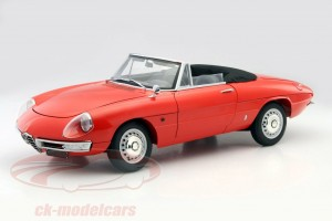maquette voiture alfa romeo 1600 spider duetto au 1:8 par Whitebox